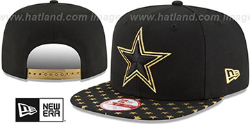 Cowboys 'STARRY SNAPBACK' Black-Gold Hat by New Era