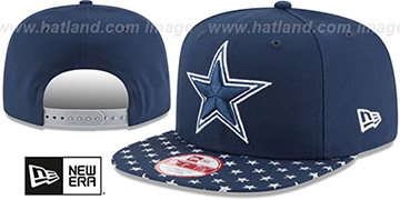 Cowboys 'STARRY SNAPBACK' Navy-Grey Hat by New Era