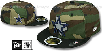 Cowboys 'STATE REFLECT' Army-Black Fitted Hat by New Era