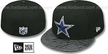 Cowboys STING SCREEN Black Fitted Hat by New Era