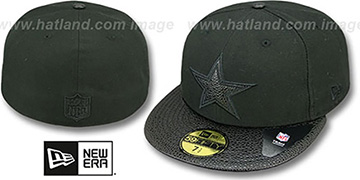 Cowboys 'STINGER' Black Fitted Hat by New Era