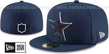 Cowboys SUEDE POP Navy Fitted Hat by New Era
