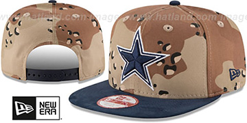 Cowboys 'SUEDED SNAPBACK' Desert Storm-Navy Hat by New Era