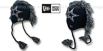 Cowboys 'TASSLEHAWK TRAPPER' Navy Knit Hat by New Era