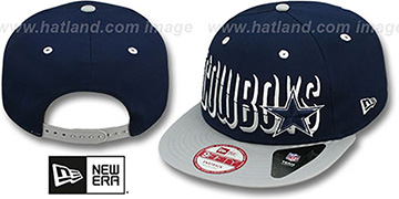Cowboys 'TEAM SPLITTER SNAPBACK' Navy-Grey Hat by New Era