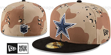 Cowboys 'TEAM SUEDE' Desert Storm-Black Fitted Hat by New Era