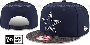 Cowboys TEAM-WEAVE SNAPBACK Navy-Charcoal Hat by New Era