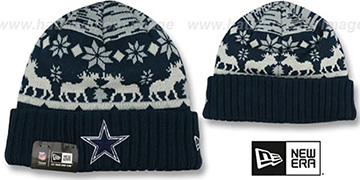 Cowboys THE-MOOSER Knit Beanie Hat by New Era