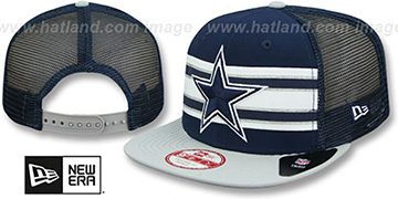Cowboys 'THROWBACK-STRIPE SNAPBACK' Navy-Grey Hat by New Era