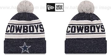 Cowboys TOASTY COVER Navy Knit Beanie Hat by New Era