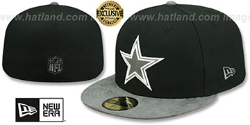 Cowboys TONAL-CHOICE Black Fitted Hat by New Era
