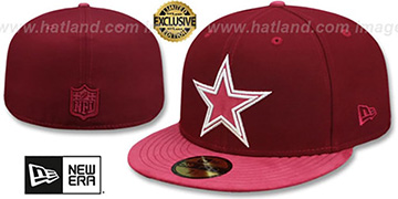 Cowboys TONAL-CHOICE Burgundy Fitted Hat by New Era