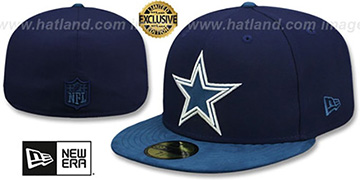Cowboys TONAL-CHOICE Navy Fitted Hat by New Era