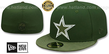 Cowboys TONAL-CHOICE Rifle Green Fitted Hat by New Era