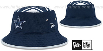 Cowboys 'TOPPER TRAINING BUCKET' Navy Hat by New Era
