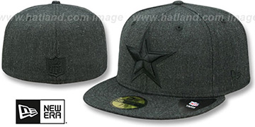 Cowboys TOTAL TONE Heather Black Fitted Hat by New Era