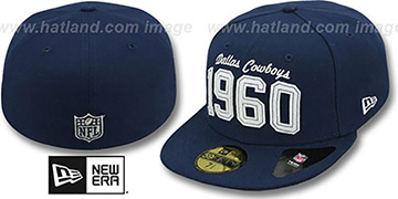 Cowboys 'TRADITION FOUNDED' Navy Fitted Hat by New Era