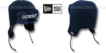 Cowboys 'TRAPPER - 2' Navy Knit Hat by New Era