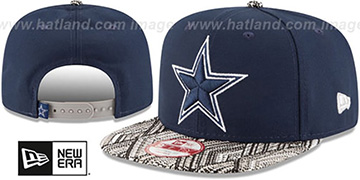 Cowboys 'TRICKED-TRIM STRAPBACK' Navy Hat by New Era