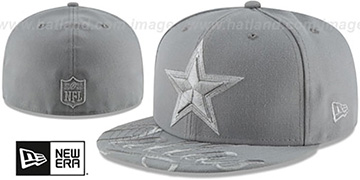 Cowboys VISOR-SCRIPT Grey-Grey Fitted Hat by New Era
