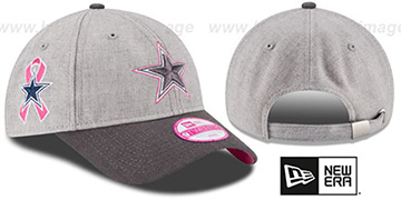 Cowboys 'WOMENS 2015 BCA' Grey Strapback Hat by New Era