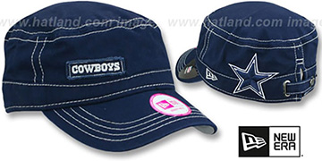 Cowboys 'WOMENS MAJOR CHIC' Navy Hat by New Era