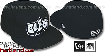 Cuba 'GRAFFITI' Black Fitted Hat by New Era