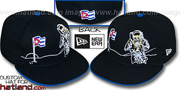 Cuba MOONMAN Black Fitted Hat by New Era
