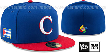 Cuba 'PERFORMANCE WBC-2' Royal-Red Hat by New Era