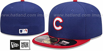 Cubs '2013 DIAMOND-TECH BP' Navy-Red Hat by New Era
