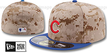 Cubs '2014 STARS N STRIPES' Fitted Hat by New Era