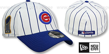 Cubs '2016 WORLD SERIES CHAMPS PINSTRIPE' Flex Hat by New Era