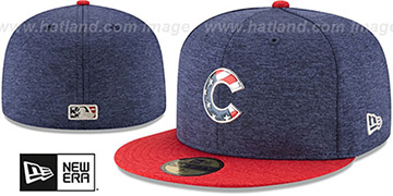Cubs 2017 JULY 4TH STARS N STRIPES Fitted Hat by New Era