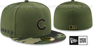 Cubs 2017 MEMORIAL DAY STARS N STRIPES Hat by New Era