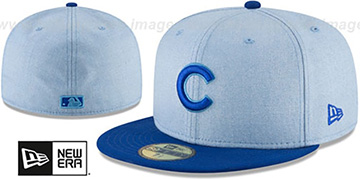 Cubs '2018 FATHERS DAY' Sky-Royal Fitted Hat by New Era