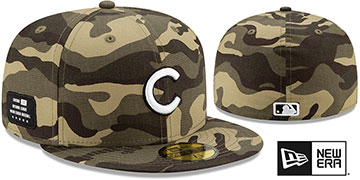 Cubs 2021 ARMED FORCES 'STARS N STRIPES' Hat by New Era