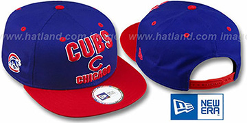 Cubs 2T PAYDIRT SNAPBACK Royal-Red Adjustable Hat by New Era