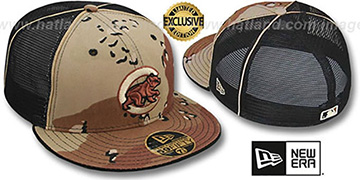 Cubs ALT DESERT STORM MESH-BACK Fitted Hat by New Era