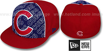 Cubs ANGLEBAR Red-Royal Fitted Hat by New Era