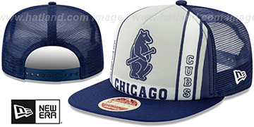 Cubs BANNER FOAM TRUCKER SNAPBACK Hat by New Era