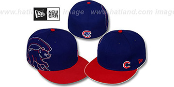 Cubs 'BIG-STITCH' Royal-Red Fitted Hat by New Era