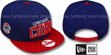 Cubs CHENILLE-ARCH SNAPBACK Royal-Red Hat by New Era