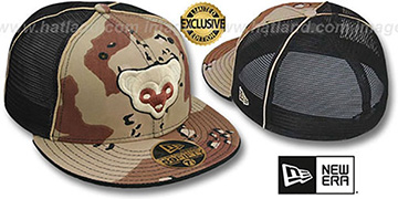 Cubs COOP DESERT STORM MESH-BACK Fitted Hat by New Era