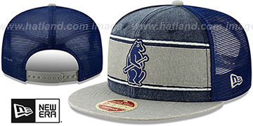 Cubs COOP HERITAGE-BAND TRUCKER SNAPBACK Navy-Grey Hat by New Era