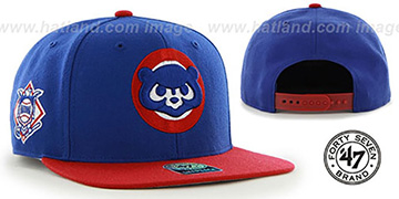Cubs COOP 'SURE-SHOT SNAPBACK' Royal-Red Hat by Twins 47 Brand