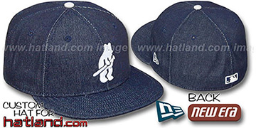 Cubs 'COOPERSTOWN DENIM' Navy Fitted Hat by New Era