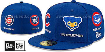 Cubs COOPERSTOWN EVOLUTION-2 Royal Fitted Hat by New Era