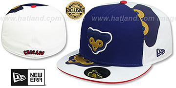 Cubs COOPERTOWN ORLANTIC-3 Royal-White Fitted Hat by New Era