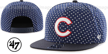 Cubs 'CROSSBREED SNAPBACK' Navy Hat by Twins 47 Brand