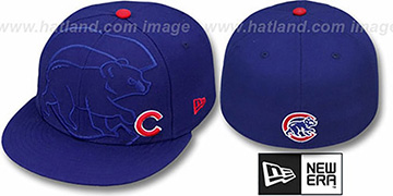 Cubs 'FULL FRONTAL' Royal Fitted Hat by New Era